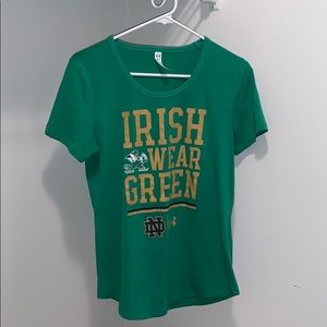 Green Notre Dame Under Armour Shirt